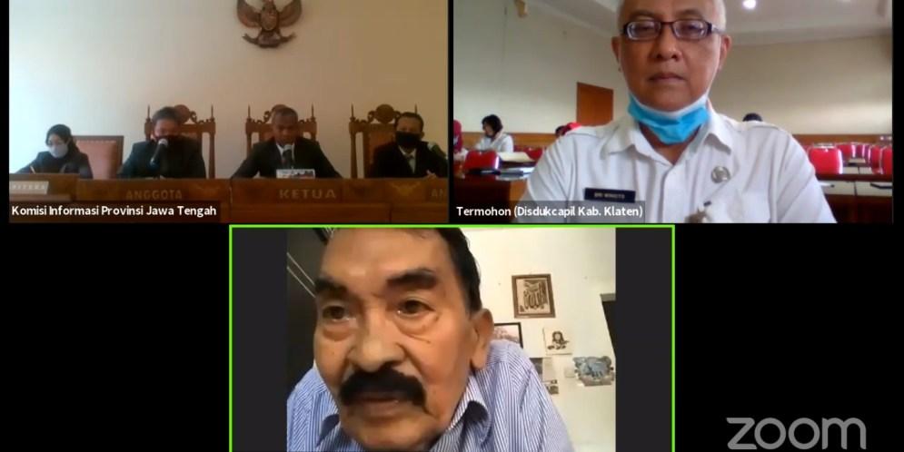 Sutarno menyatakan tidak dapat melengkapi Surat Kuasa untuk Kelengkapan Legal Standing