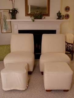 After upholstery and slipcovers