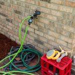 How To Build A Diy Garden Hose Holder Store Garden Hoses Hose Post