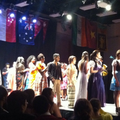 Students from IC International Club's InterFashional Night modeled traditional outfits from their home countries. As international students, some of them expressed their sadness at not being able to be with their families for holidays, and that the InterFashional Night was as close to home as they'd been in months.