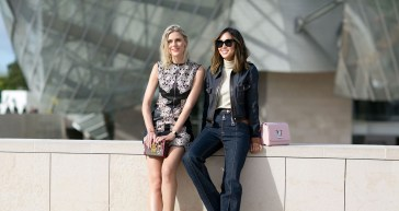 Two stylist women photographed in an urban setting photo by nationtrendz