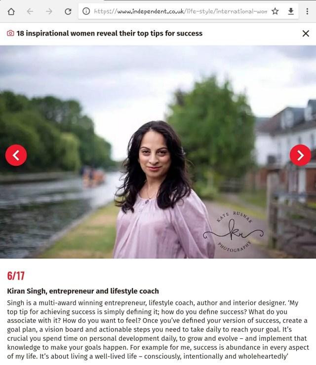 Kiran Singh - The Independent