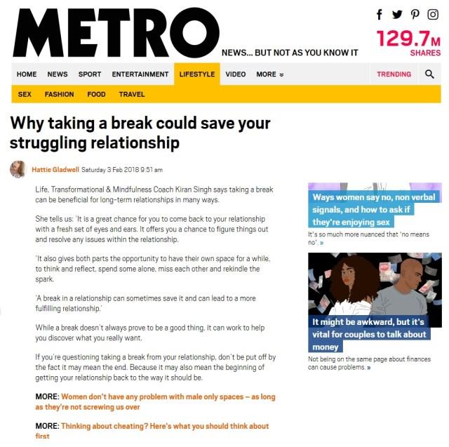 Kiran Singh - Metro
