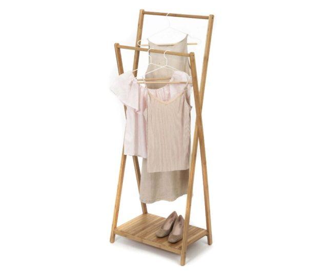 Malmo Double Clothes Rail – Bamboo
