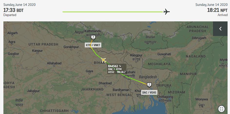 Dhaka to Kathmandu