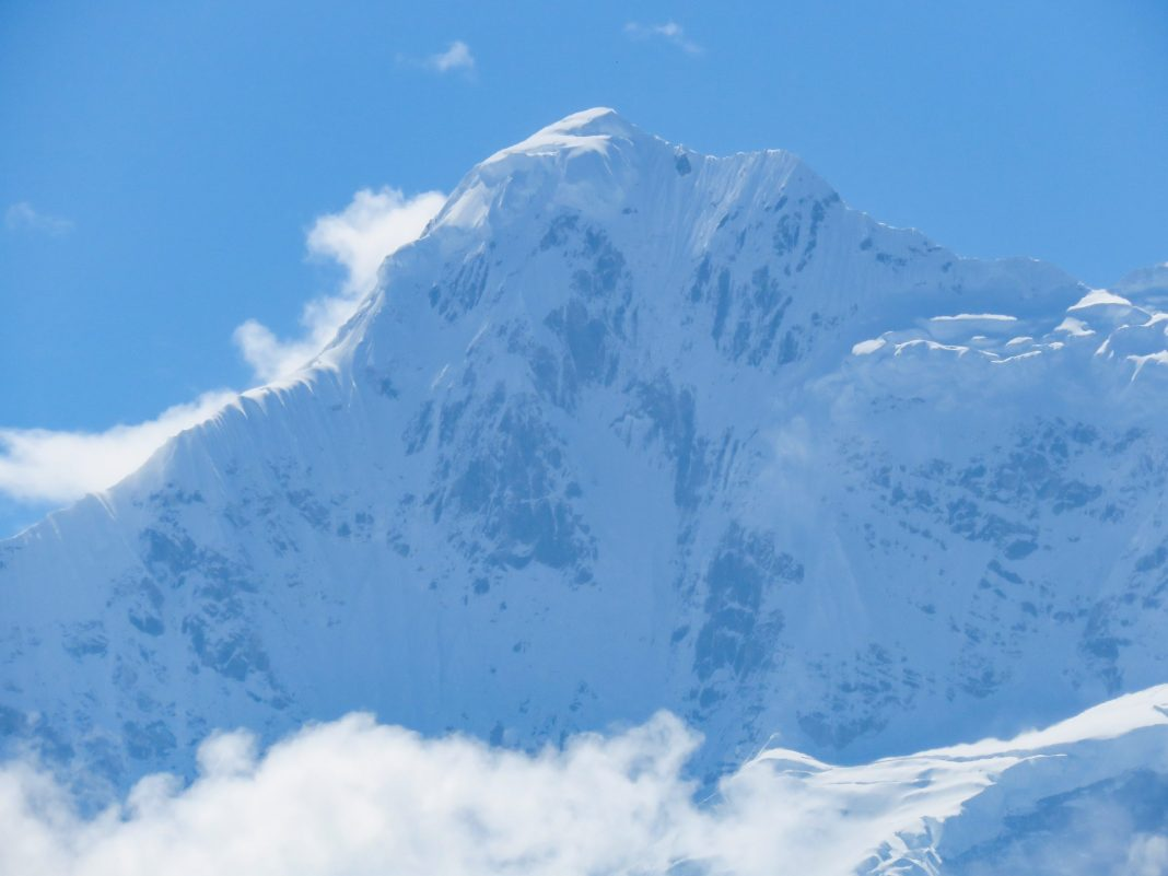 Mountain with snow covered