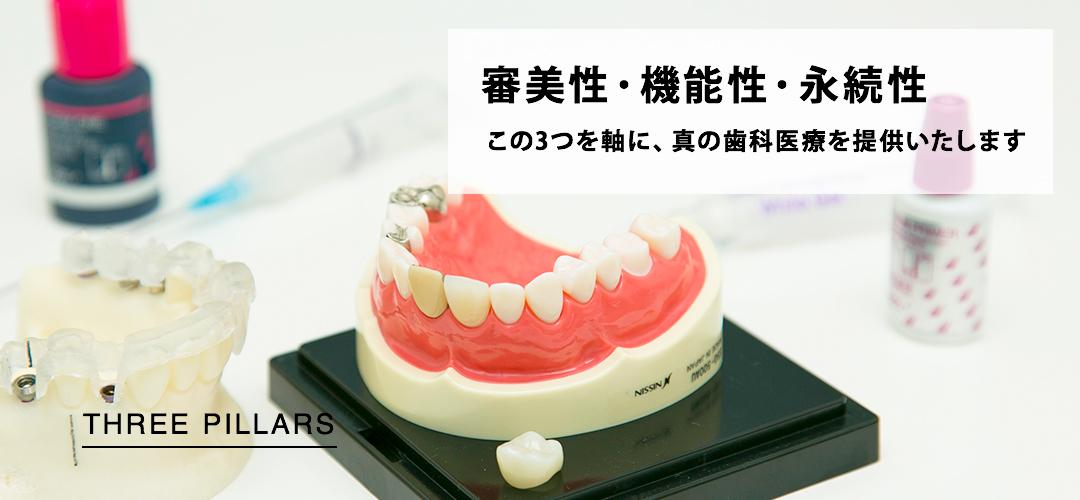 審美性・機能性・永続性を軸とした歯科医療