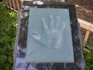 三浦友和さんの手形