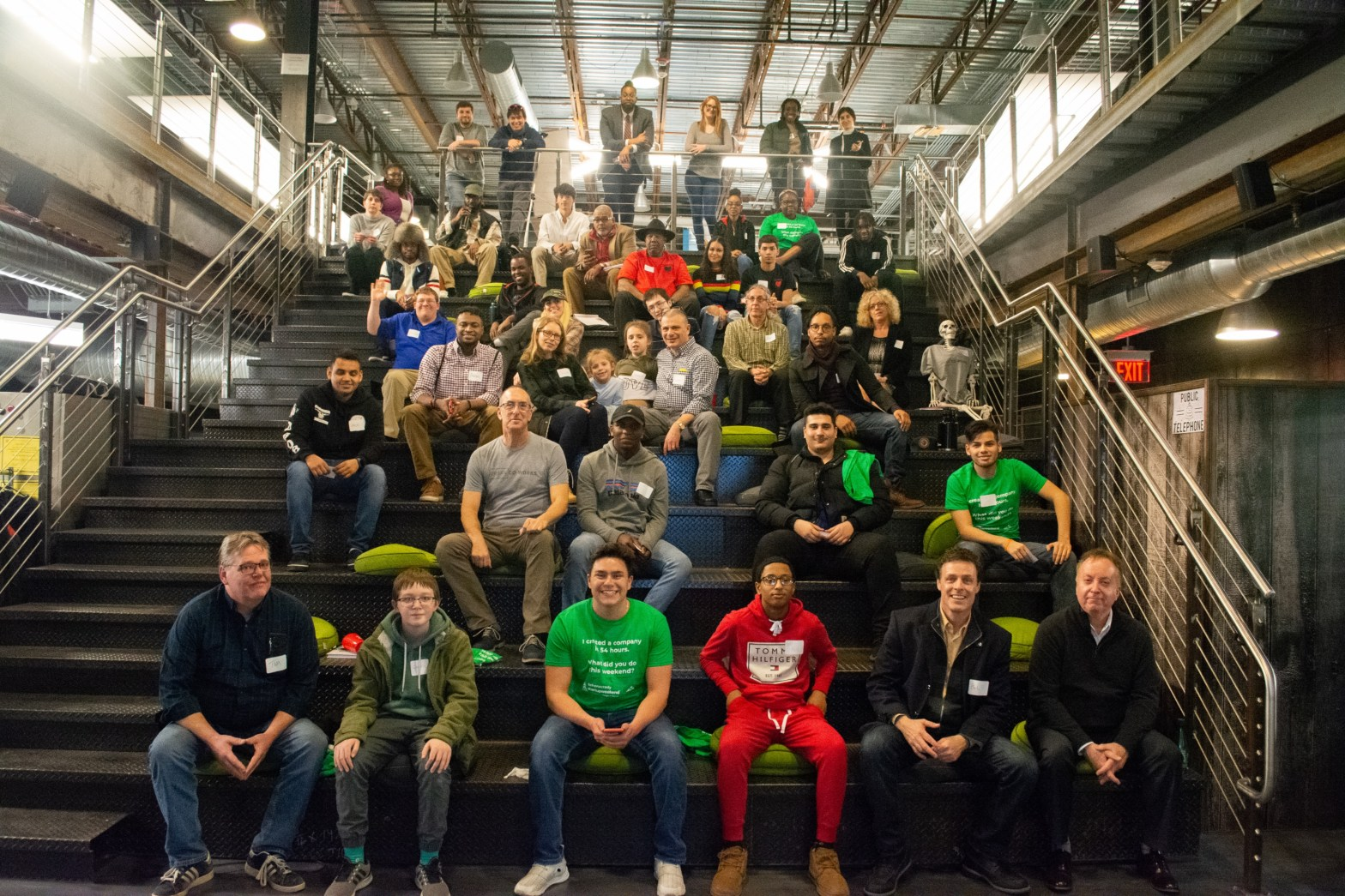 Photo of the over 50 participants in Techstars Startup Weekend Schenectady (SUWS) 2020, hosted @urban Co-works