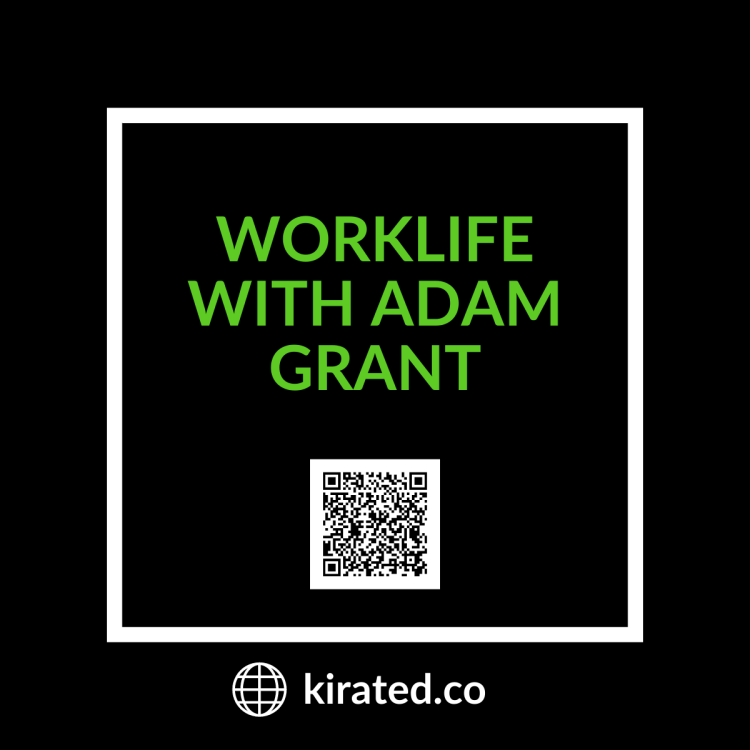 PODCAST: WorkLife with Adam Grant with QR CODE TOP PODCASTS