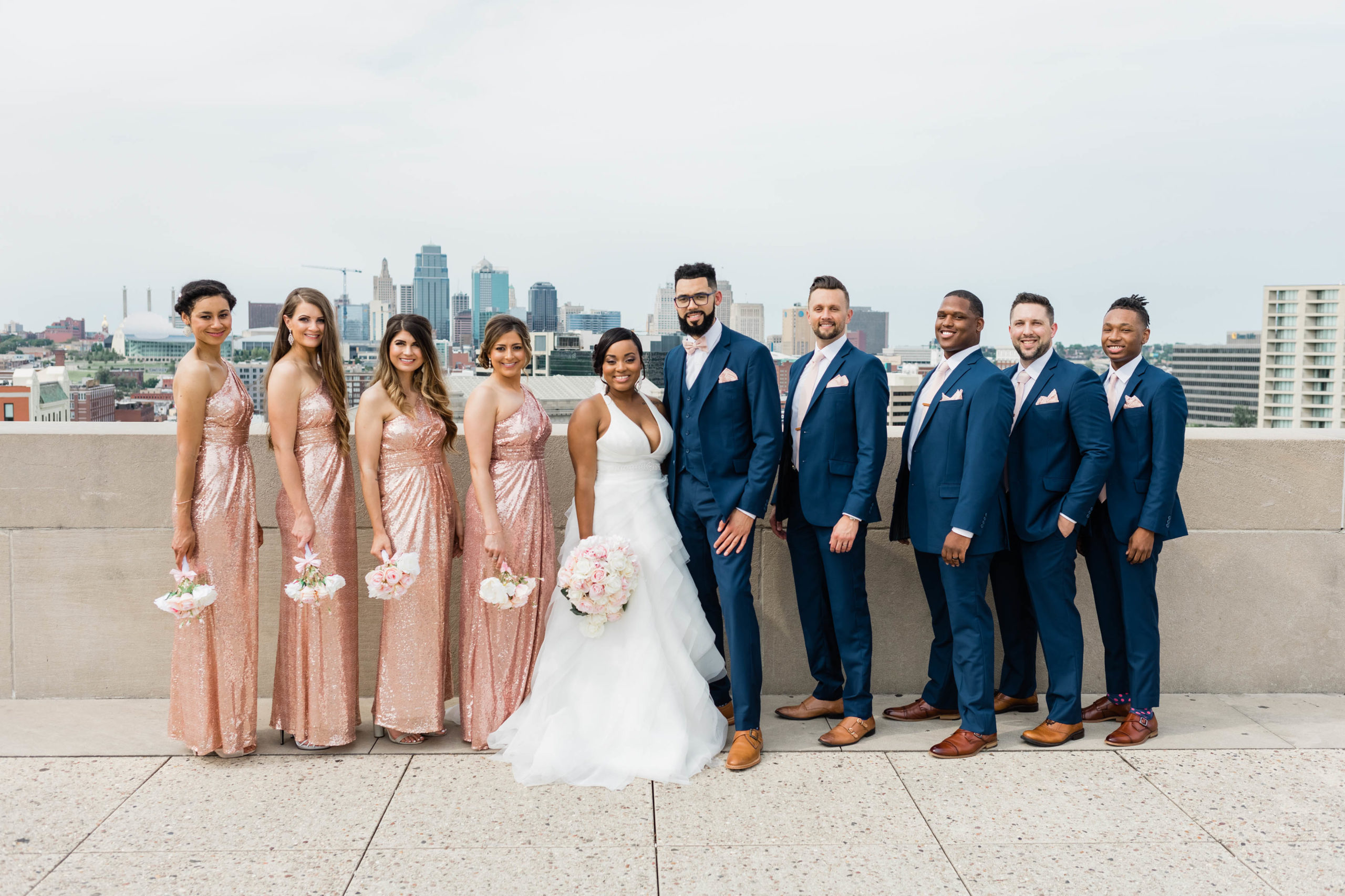 bridal party photogenic wedding
