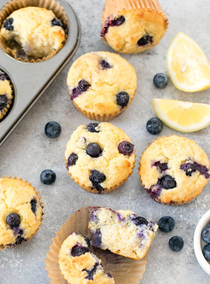 Keto blueberry muffins with coconut flour