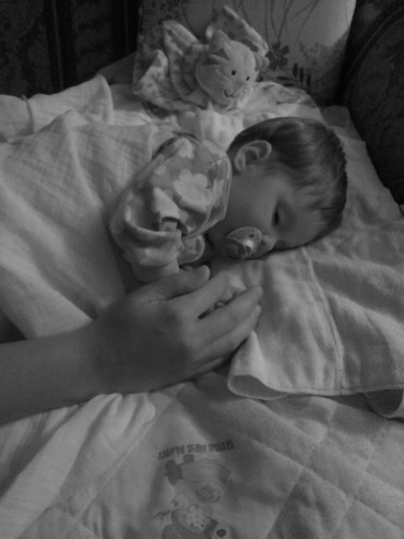 Our sweet niece, Clementine, falling asleep holding her mommy's hand #heartmelting