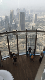 From the top of the Burj Khalifa!