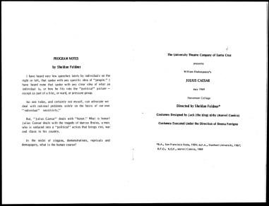 1969 - Julius Caesar program p1-p2 photocopy