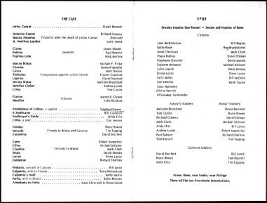 1969 - Julius Caesar program p3-p4 photocopy