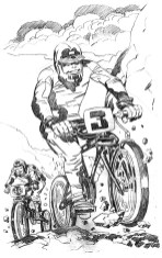 1983 - BMX Fever pencil art before changes