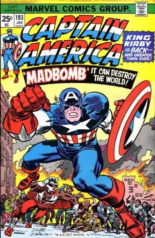 1976 - Captain America 193 cover