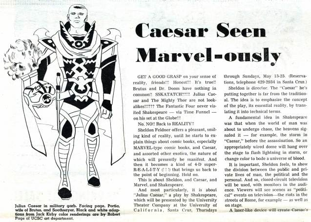 "1969 May 3 - ""Caesar Seen Marvel-ously"" part 1 photocopy"