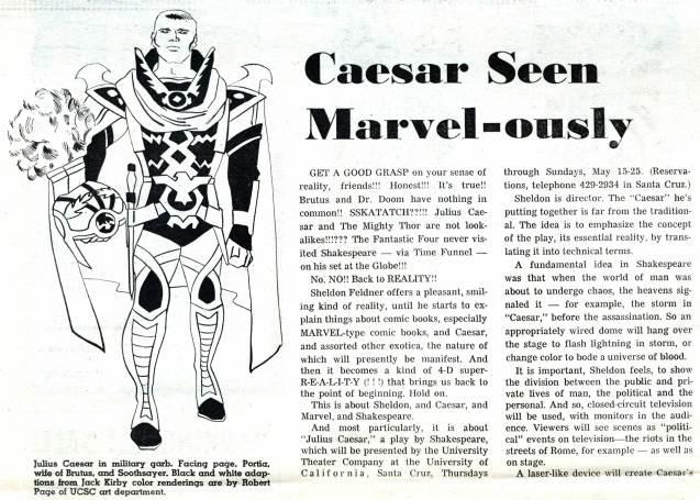 "1969 May 3 - ""Caesar Seen Marvel-ously"" part 1 photocopy"