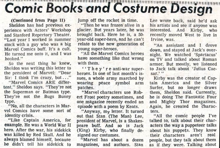 "1969 May 3 - ""Caesar Seen Marvel-ously"" part 3 photocopy"
