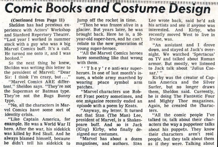 "1969 May 3 - ""Caesar Seen Marvel-ously"" part 3 photocopy"