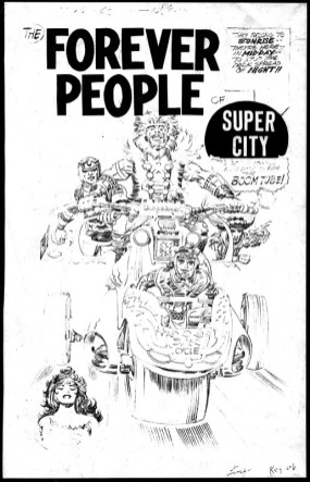 1972 - Forever People 1 cover pencil art photostat