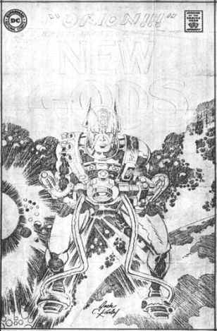Orion of the New Gods photocopy of pencil art