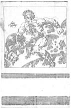 OMAC pinup pencil art photocopy