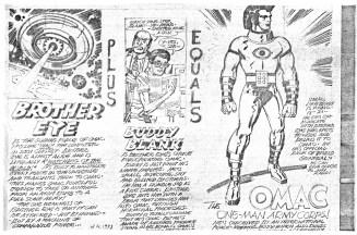 1973 - OMAC presentation page 1 pencil art photocopy