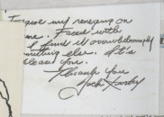 1970 - Kirby note to Choquette
