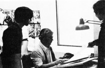 This photograph is one of the inker of all of Jack Kirby's books for National - Vince Colletta. He has recently been replaced by Mike Royer.