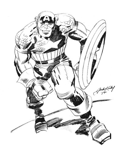 "Captain America - 23"" by 29"""