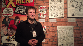 Jean Depelley at the Kirby display at Angoulême International Comics Festival, 2015.