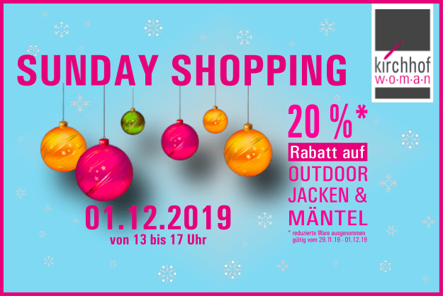 Sunday shopping am 01.12.2019