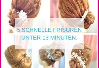 5 BELIEBTE und SCHNELLE Frisuren unter 13 Min.