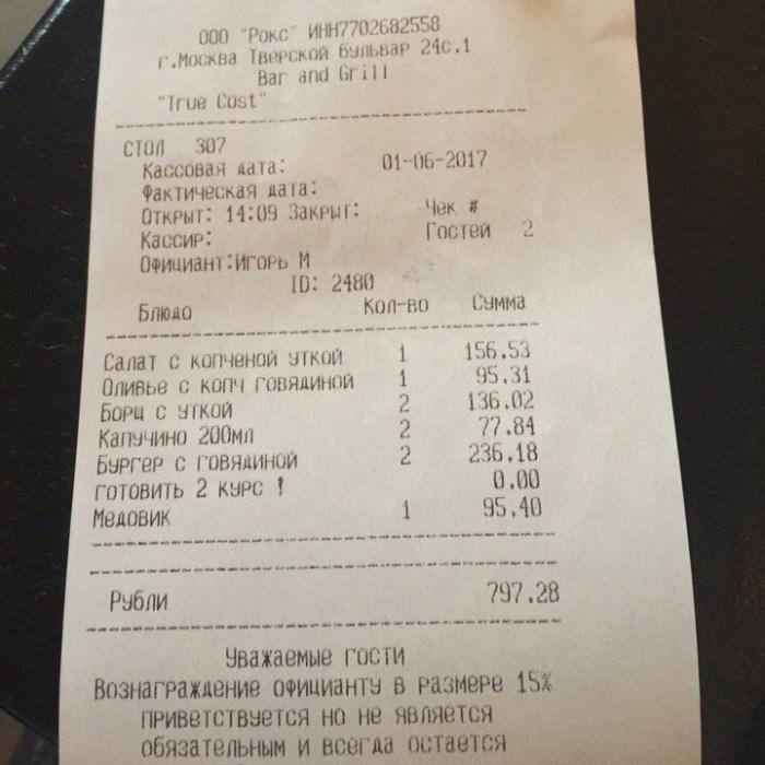 True Cost Москва