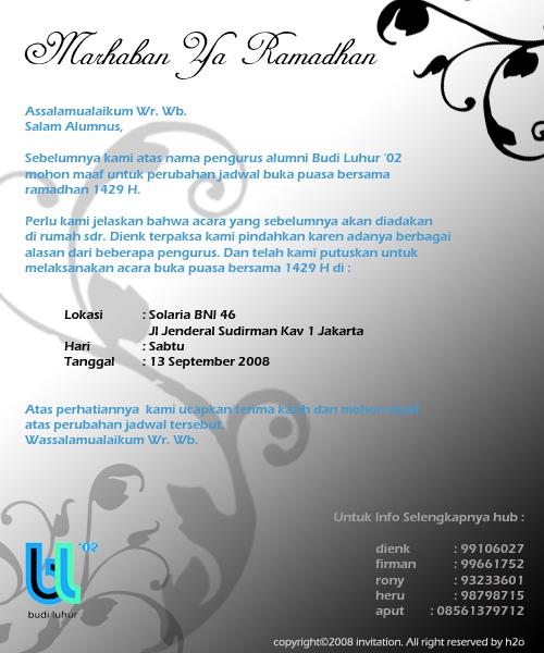 Undangan Buka Bersama Bl 02 H2o Media Creation