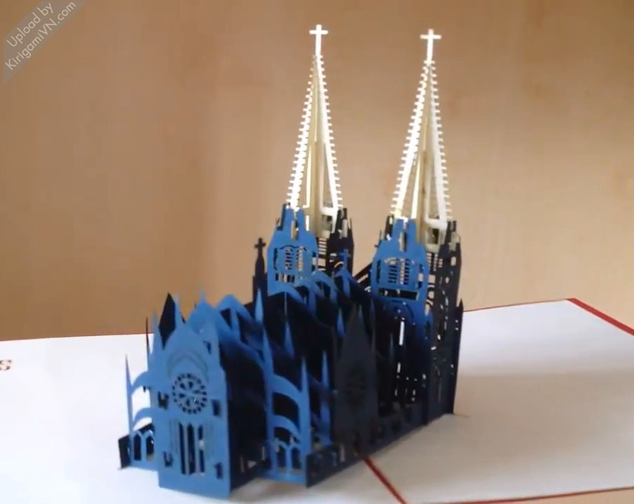 KirigamiVN Notre Dame cathedral pattern preview 4
