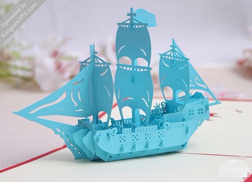 Sailing Boat Pattern KirigamiVN preview 2