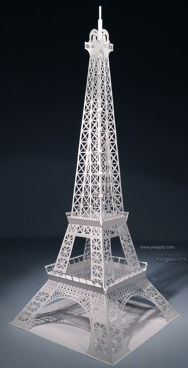 The Eiffel Tower Pattern KirigamiVn preview 4