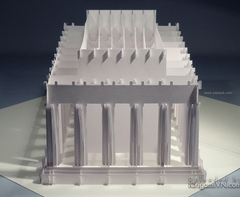 The Lincoln Memorial pattern prewview kirigami 2