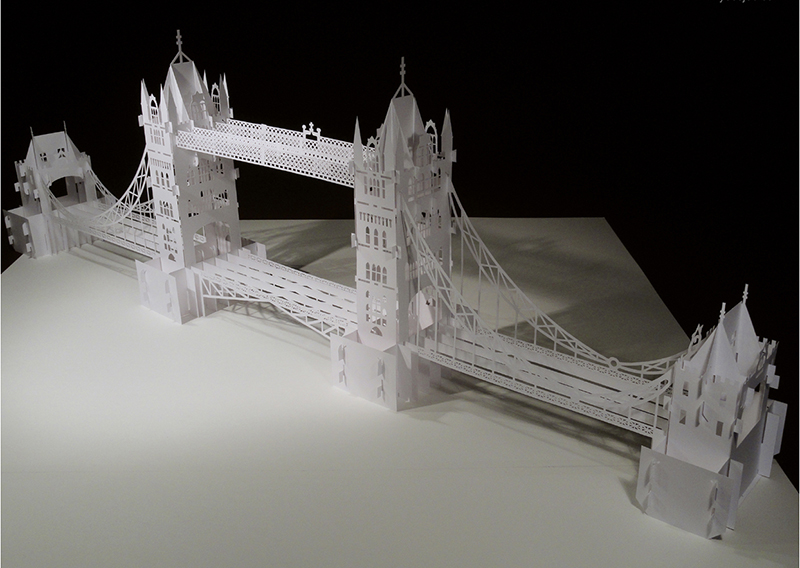 The Tower Bridge Pattern preview KirigamiVN.com 2