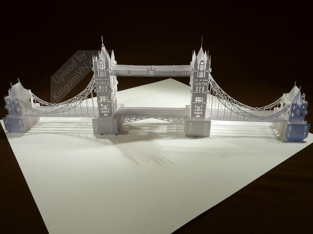 The Tower Bridge Pattern preview KirigamiVN.com 3