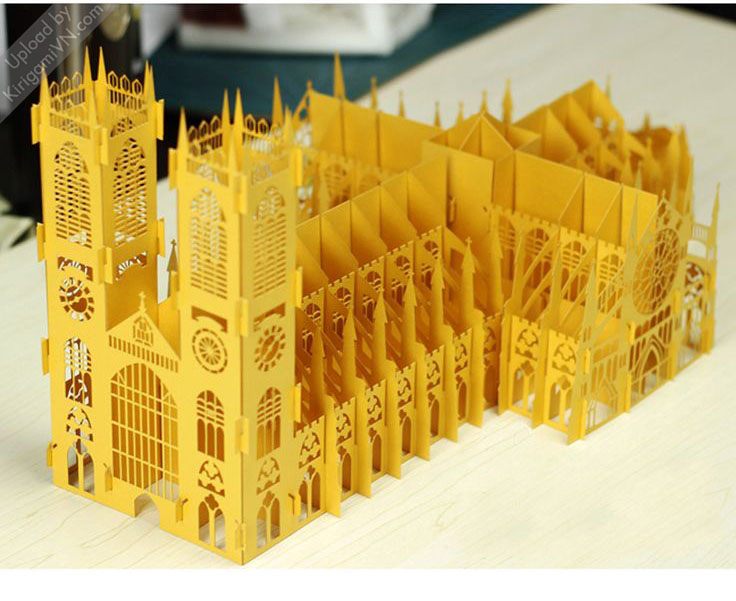 The Westminster Abbey Pattern preview KirigamiVN.com 1
