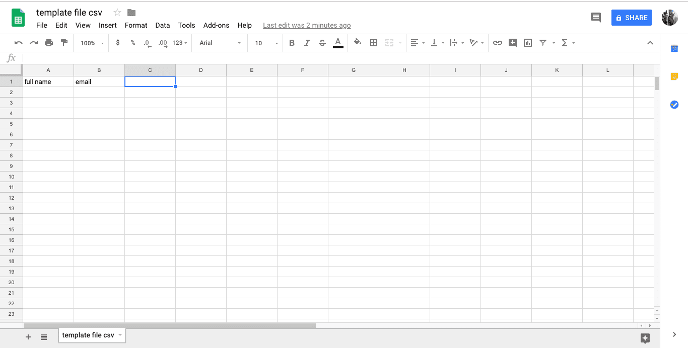 cara membuat file csv