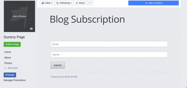 contoh form opt-in dengan facebook fanpage - tutorial list building : cara membangun email list dengan facebook fanpage