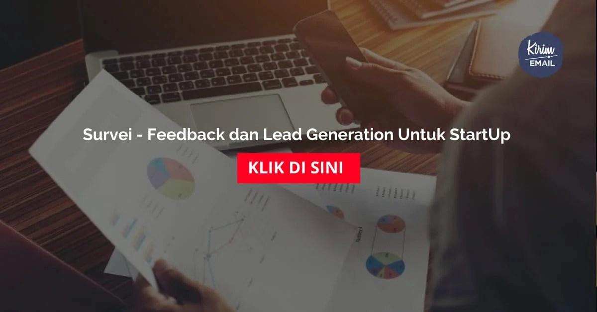 Survei - Feedback dan Lead Generation Untuk StartUp
