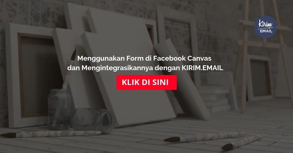 Menggunakan Form di Facebook Canvas dan Mengintegrasikannya dengan KIRIMEMAIL
