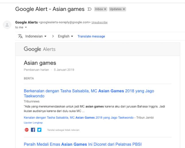 google alert untuk memantau reputasi perusahaan di dunia online